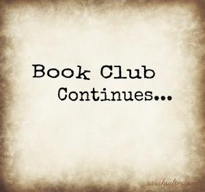 Book Club Continues...